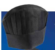 Forniture alberghiere DAC Forniture - CAPPELLO IN TNT CHEF NERO CM ... 98852b1bdd37