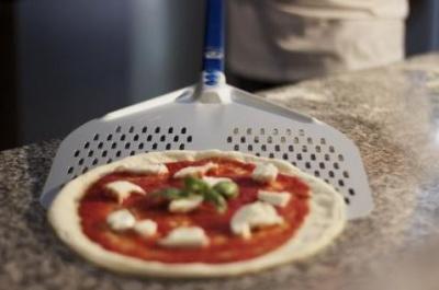 manico in lega di alluminio inox Pala pizza rettang 36x36 cm testa acc