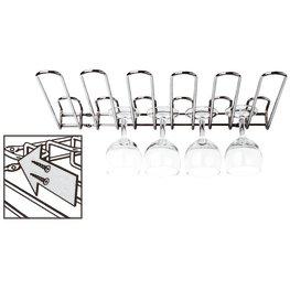 Vetro Cromo ideale per calici e fl/ûtes Ckb Ltd/® 6 Row rastrelliera da parete per bicchieri 53cm