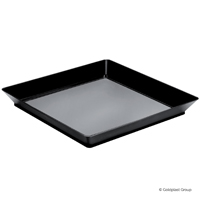 VASSOIO MEDIUM PLATE PS-NERO 130x130mm 12 PZ